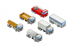 Six-isometric-vehicles